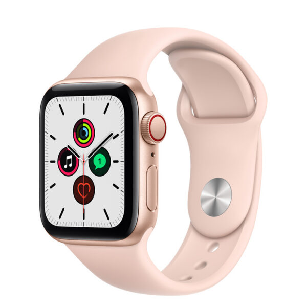 Apple Watch SE Gold Aluminium Case with Sport Band 40mm Cellular