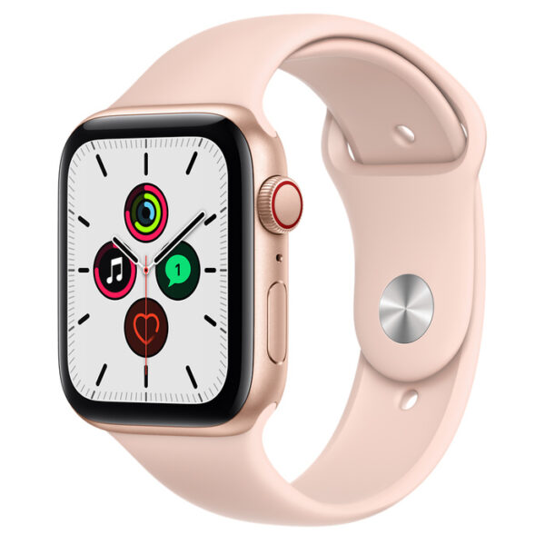 Apple Watch SE Gold Aluminium Case with Sport Band 44mm Cellular