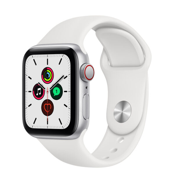 Apple Watch SE Silver Aluminium Case with Sport Band 40mm Cellular