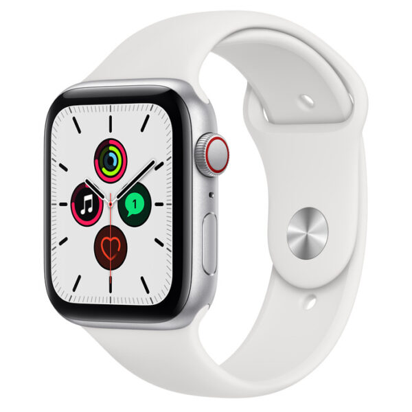 Apple Watch SE Silver Aluminium Case with Sport Band 44mm Cellular