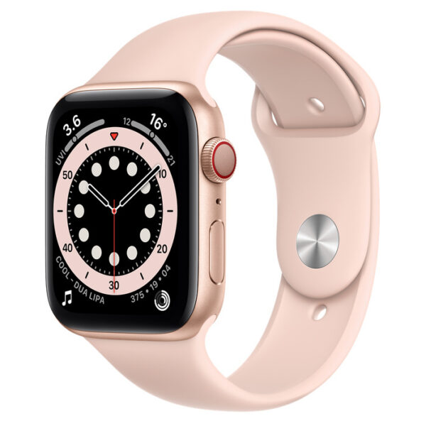 Apple Watch Series 6 Gold Aluminium Case with Sport Band 44mm Cellular