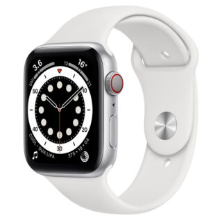 Apple Watch Series 6 Silver Aluminium Case with Sport Band 44mm Cellular